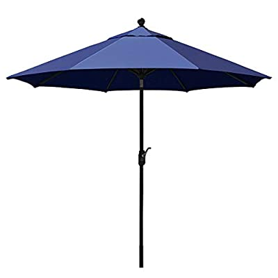 EliteShade Sunbrella 9Ft Market Umbrella Patio Outdoor Table Umbrella with Ventilation and 5 Years Non-Fading Top,Navy Blue