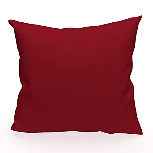 Soleil d'ocre Funda de cojín 40 x 40 cm Alix roja