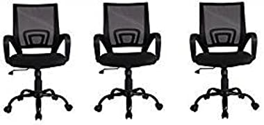 Mid Back Mesh Ergonomic Computer Desk Office Chair,3 pack