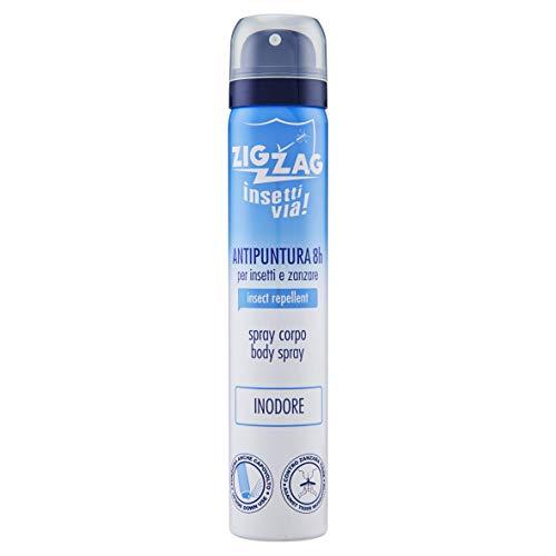 Zig Zag, Repellente, Insetti, Spray Corpo Insettivia Inodore, repellente per zanzare,zanzare tigre,zecche, 100 ml
