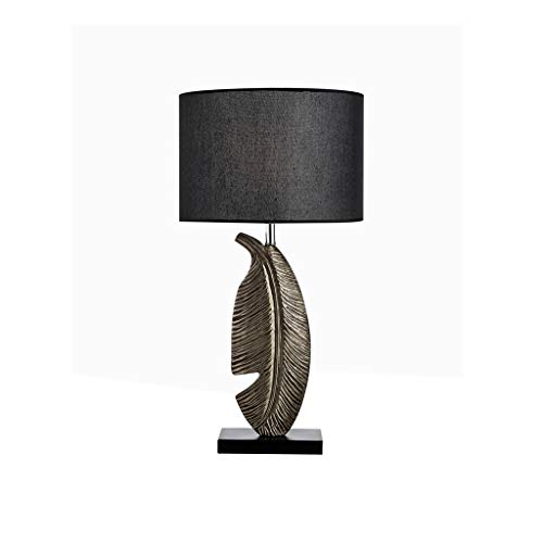 Pointhx Lámpara de escritorio Forma de hojas Nightstand Lámpara Lámpara de resina Lámpara Cuerpo Luz Nórdica Sencillez Cama Linterna Linterna Dormitorio Oficina Restaurante Hotel Lámparas de mesa de g