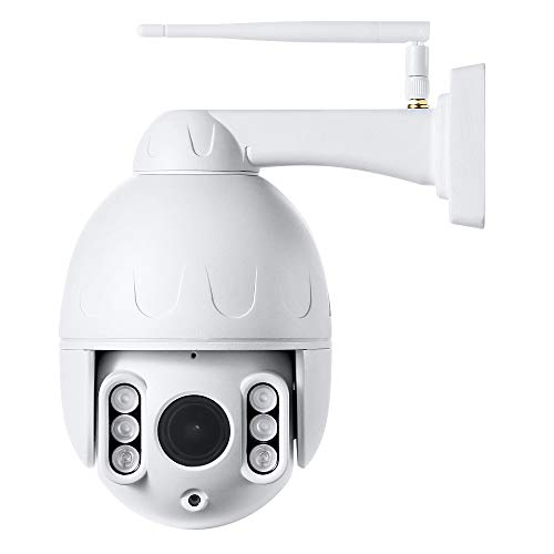 Outdoor PTZ 2.4G WiFi Security Camera Wireless Surveillance HD 1080P Pan/Tilt Zoom 5X Optical 165ft Night Vision Two-Way Audio IP66 Weatherproof Motion Detection & E-Mail/Push Alerts AT-200PW Cameras Dome
