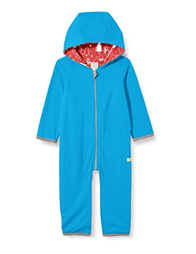 loud + proud Kinder-Unisex Wendeoverall Overall, Aqua, 62/68