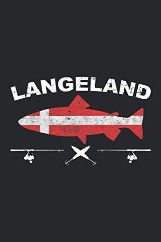 Langeland: Schickes Angler Notizbuch, Tagebuch und Fangbuch zum Angeln und für die Angeltour Dänemark Langeland mit einer Meerforelle, Meeforellen ... 6'' x 9'' (15,24cm x 22,86cm) DIN A5 Kariert