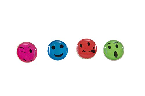 Baumgartens Smiley Face Smiley Face Pushpins 16 Pack Assorted Colors (Pack of 6) (29830)