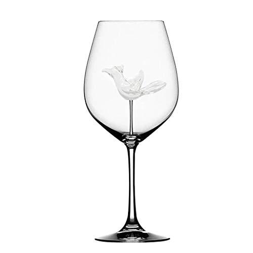 Copas de vino PC 1 taza de cristal Inicio del vuelo de pájaro de vino tinto copa de vino de la botella de cristal de regalo del banquete de boda for el partido de la Copa flautas de cristal ro