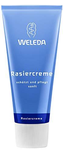 WELEDA Rasiercreme, Naturkosmetik Rasierschaum für die Pflege und den Schutz der Haut bei Nassrasuren, sanfter Schaum für eine schonende Rasur für Männer (1 x 75 ml)