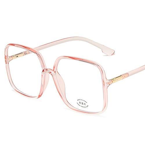 Gafas Luz Azul,Montura De Gafas Unisex Con Personalidad De Moda Gafas Anti-Azules, Antideslumbrante Alivia La Fatiga Ocular, Gafas Para Mujeres / Hombres, Accesorios Para Estudiantes De Oficina, Rosa