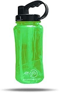 My Life's - Water Bottle | 2000ML (.528 Gallon) | with Straw and Handle | Made with TRITAN Material | 100% BPA Free Leak Proof and Reusable Best for Gym, Yoga, Running, Cycling, and Camping