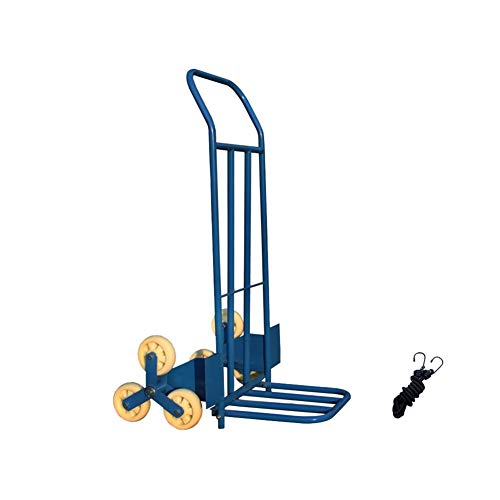 CAOYUYMX Rueda de Carro Carretilla de aleación de Aluminio de 6 Ruedas Plegable de Carga Ajustable Gran Rueda Carretilla (Color : Blue, Size : Nylon Wheel)
