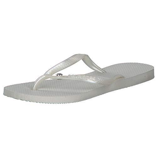 Havaianas Slim Crystal Glamour SW, Infradito Donna, Bianco (White/Metallic 3165), 41/42 EU