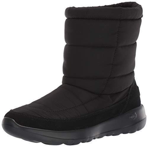 Skechers Women's ON-The-GO Joy High Boots, Black (Black Textile/Suede BBK), 6 (39 EU)