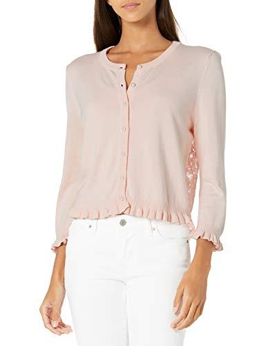 KARL LAGERFELD Paris Damen Long Sleeve Cardigan Cardiganpullover, Rose, Groß