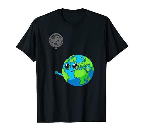 Planeta Tierra Galaxy Luna Globo Astronomía Espacio Camiseta