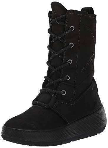 ECCO Women's Ukiuk 2.0 Gore-Tex Lace Snow Boot, Black/Black Primal G, 38 M EU (7-7.5 US)