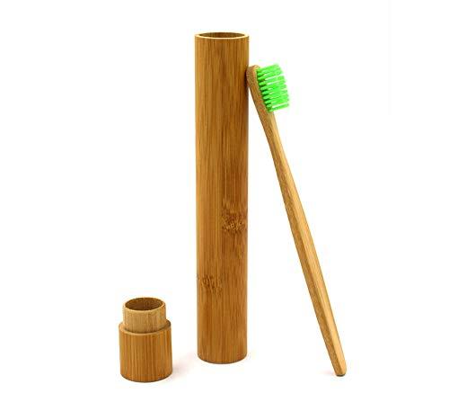 Fdit Boîte de Brosse à Dents Boîte de Rangement Portable Respectueux de l'environnement en Bambou Brosse à Dents Voyage Protéger Cas de Stockage