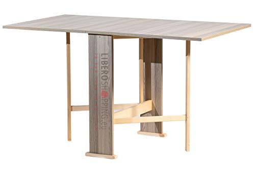 Table Console Pliante Pliable Susanna en Bois (Gris)
