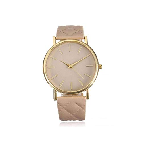 Odoukey Unisex Reloj de Cuarzo analógico Reloj con Cuero Brazalete diseñado Simple Reloj Casual Reloj Hombres Mujeres