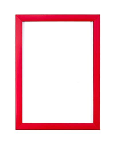 Gama Colores del Arco Iris Cuadro de Foto/Foto/póster - con una Tabla de Respaldo de MDF - con una Hoja de plexiglás estireno de Alta claridad, Rojo, A3