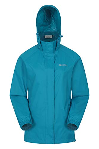 Mountain Warehouse Pakka Womens Waterproof Rain Jacket – Packable Dark Teal 6