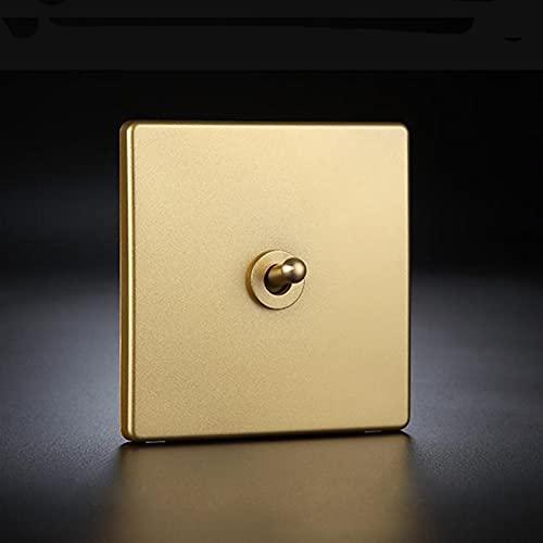 Interruptor de pared 1-4 engranaje 2 caminar latón palanca de inclinación interruptor de la inclinación de la casa mejora del hotel Champagne Oro Oro Amarillo LED Luz Interruptor de pared Interruptore