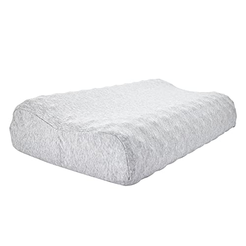 Lycisper Latex Foam Contour Bed Pillows for Sleeping with Washable Cotton Cover,Soft and Supportive for Neck/Back Pain Relief,Standard Size for Side/Back Sleepers