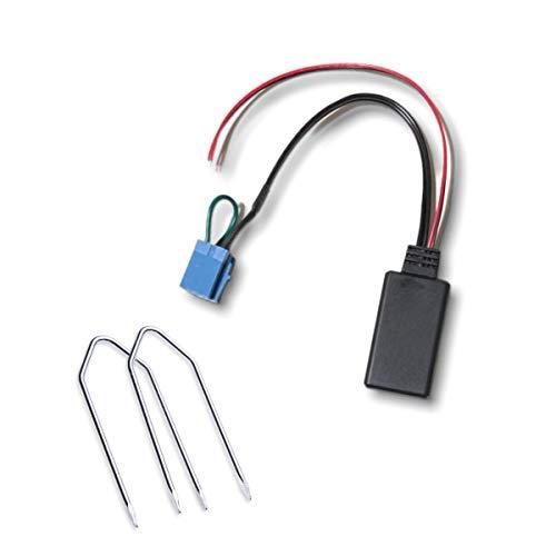 1neiSmartech Ricevitore Adattatore Aux Bluetooth con Ponticello e Kit Chiavette per Autoradio No Souce Available Delphi Bosch Compatibile con Fiat 500 Grande Punto Evo Lancia Alfa