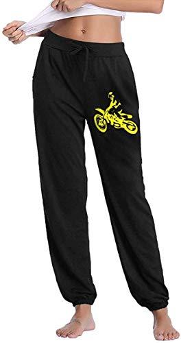 Bequeme Yogahosen - Jogger-Jogginghose - Brraaap Dirt Bike-Jogginghose für Damen