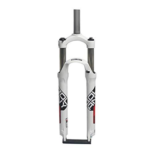 WYJW Horquilla mecánica con Control de Hombro (HL), Horquilla Delantera para Bicicleta de montaña, Freno de Disco, aleación de Aluminio, Horquilla de suspensión, Recorrido 105 mm, Rojo-