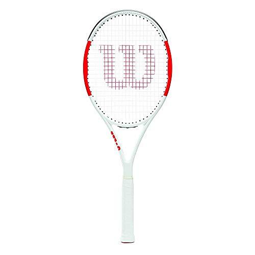 Wilson Raqueta de Tenis, Six.One Team 95, Unisex, Jugadores intermedios, Rojo/Gris, Tamaño de empuñadura L2