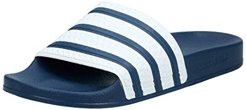 adidas Originals Unisex-Erwachsene Adilette Dusch-& Badeschuhe, Blau (adiblue/white/adiblue), 42 EU