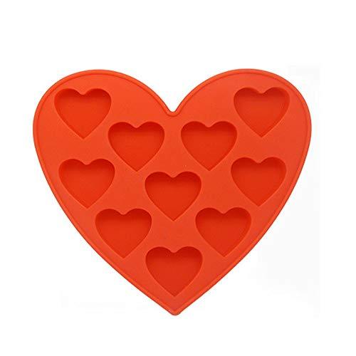 Gobesty Molde de Silicona en Forma de corazón, moldes de Chocolate Bandejas de Cubitos de Hielo para Hacer Pasteles Magdalenas de Caramelo Gominolas Magdalena