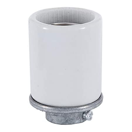 SATCO//NUVO Keyless Porcelain Mogul Socket With Metal 1//4 IP Cap
