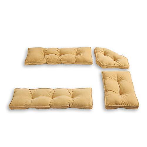 Hampton 4-Piece Kitchen Nook Cushion Set, Cream