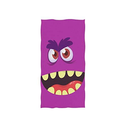 Sinestour Toallas de Mano con diseño de Monstruo de Dibujos Animados para baño, Toallas de Mano Decorativas para Invitados Multiusos para Gimnasio y Hotel
