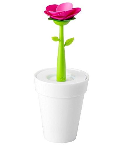 VIGAR Flower Shop Portaútiles, PP, Milk White, 11 x 11 x 27.99 cm