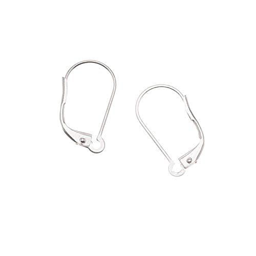 Silver Plated Earring Findings, Lever Backs, Interchangeable Loop, Pair of 5