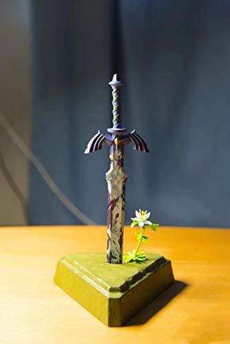 No Alto 26 cm La Leyenda de Zelda Linke Espada de héroes Aliento de la Espada del Maestro Salvaje Escultura en Caja Modelo de Regalo Obra de Arte Anime