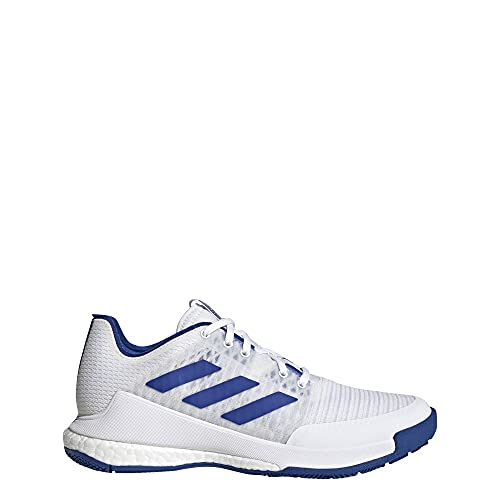 adidas Women's Crazyflight Volleyball Shoes, White/Royal Blue/White, 10