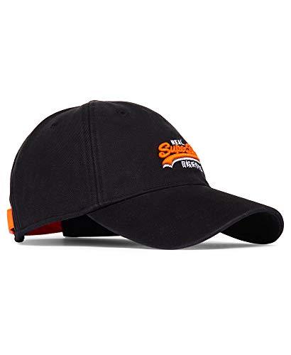 Superdry Herren ORANGE LABEL TWILL CAP SCHWARZ Größe Einheitsgröße, Farbe Schwarz