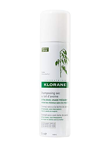 Klorane Dry Shampoo with Oat Milk, Ultra-Gentle, All Hair Types, No White Residue, Paraben &...