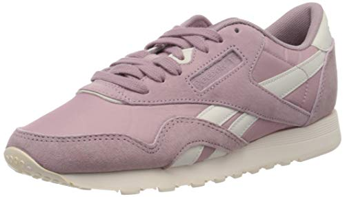 Reebok Damen Classic Leather Nylon Fitnessschuhe, Mehrfarbig Seasonal Infused Lilac Pale Pink 000, 37 EU
