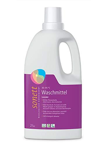 Sonett Waschmittel Lavendel: Für bunte und weiße Wäsche, mit Bio-Pflanzenölseife, 2l