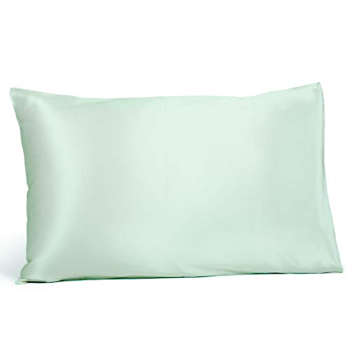 Fishers Finery 25mm 100% Pure Mulberry Silk Pillowcase, Good Housekeeping Winner (Light Green, King)