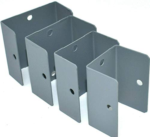 Pack of 10 x Grey Fence & Trellis Fixing Clips - 38mm
