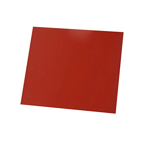 Flexible Heat Resistant Silicone Rubber Sheeting, High Temp,Smooth Finish, Red 1/8 by 12 by 12 inch