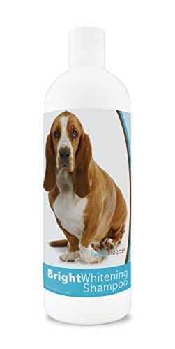 Healthy Breeds Dog Whitener Shampoo for Basset Hound - for White, Lighter Fur – Over 150 Breeds – 12 oz - with Oatmeal for Dry, Itchy, Sensitive, Skin – Moisturizes, Nourishes Coat