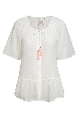SOCCX Damen Crepe-Bluse im Boho-Style