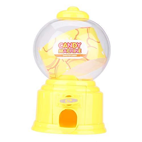 DERCLIVE 1 Pcs Máquina de Dulces para Niños Portátil de Plástico Mini Dispensador de Bolas de Chicle Regalo de Jardín de Infantes para Niños Amarillo