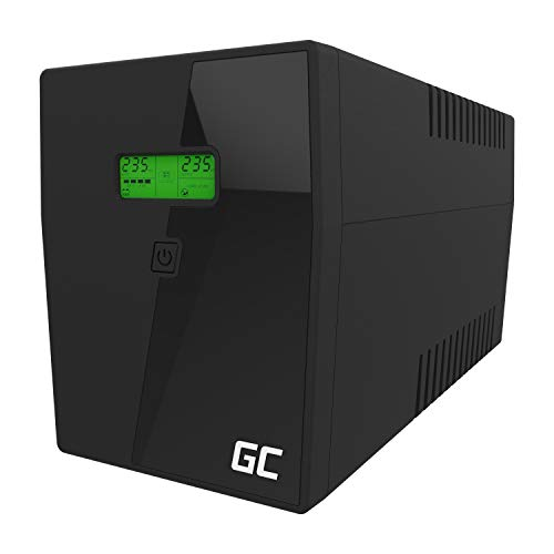 Green Cell UPS USV 2000VA (1400W) Back-UPS Gruppo di continuità 230V 2000VA-3000VA Line-interactive Power Supply Pure Sine wave USB type B 2x Schuko